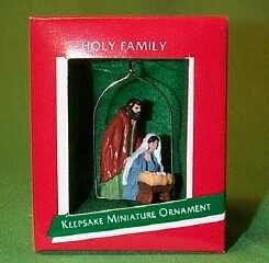 1988 Hallmark Keepsake Miniature Ornament Holy Family RARE ()