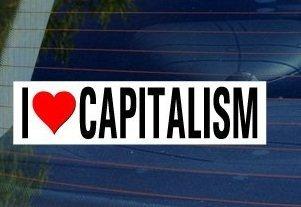 - I Love Heart CAPITALISM Window Bumper Sticker - Sticker Graphic - Personalized Sticker Custom Sticker Street Sign Graphic