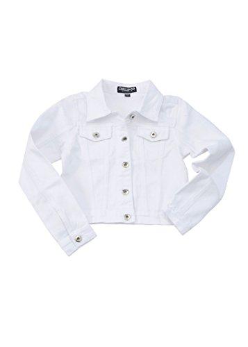 Chilipop Denim Jacket Girls White
