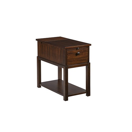 - Progressive International Chairside Table in Regal Walnut