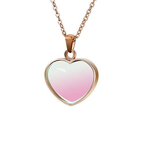 Negative Ion Bio Energy Pendant 3000cc Scalar Necklace Love Shape Color Changing
