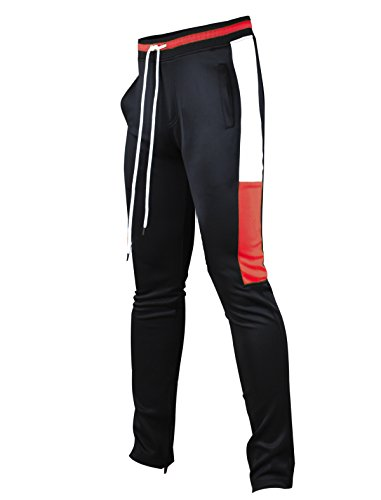 Felt Hip Hop (SCREENSHOTBRAND-P11855 Mens Hip Hop Premium Slim Fit Track Pants - Athletic Jogger Bottom with Side Multicolor)