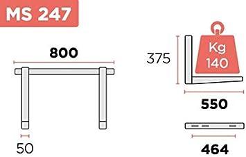 Support coulissant pour climatiseurs 55 cm x 80 cm capacit/é 140 kg MS247 Rogas