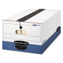 Liberty Plus Storage Box, Legal, String/Button, White/Blue, 12/Carton (Box Storage Plus Liberty)