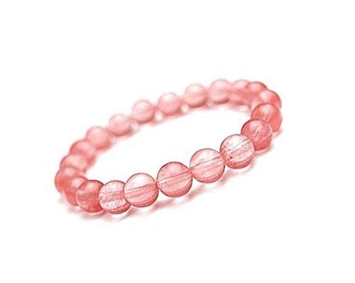 Natural Cherry Quartz Bracelet, Quartz Stretch Bracelet for Women, Natural Gemstone Bracelet, Cherry Quartz Gemstone Bracelet 10mm - Nature Cherry Quartz Gemstone Bead
