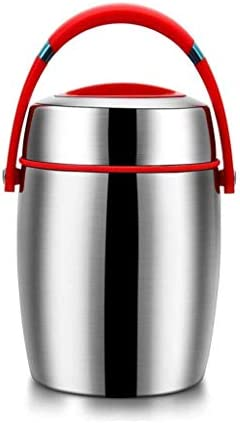 1200ミリリットル保冷ランチ折りたたみスプーン&柔軟なハンドル漏れ防止広口ホット/コールド食品用容器食品の瓶ステンレス鋼の真空スープ魔法瓶弁当ランチボックス