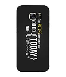 ColorKing CK1SS011TXT0080 Matte Finish Mobile Shell Case Cover for Samsung Galaxy S7 Edge - Pattern, Multi Color