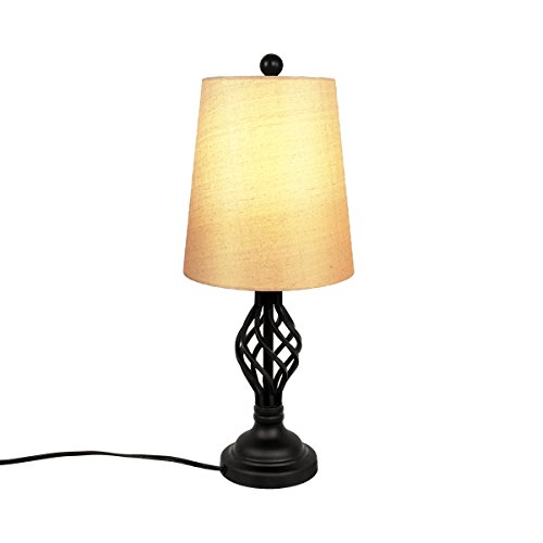 Oneach Metal Elegant Table Lamp-Reading Desk lamp with Hollowed Out Base for Living Room Bedroom Bedside Table Nightstand LED Bulbs Included