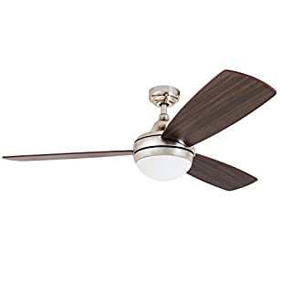Prominence Home 80035 01 Calico Modern Contemporary LED Ceiling Fan With Remote Control