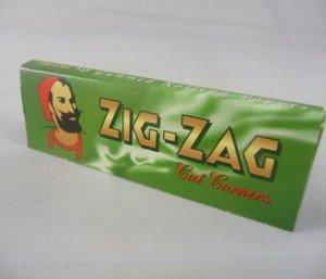 ZIG ZAG 1000 Zig Zag Green Rizla/Rolling Papers 20 Packs X 50 Papers Free - Zag Zig Green