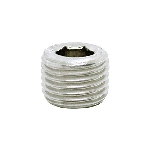 (5pcs) BelMetric M10X1.0 A2-50 Stainless Steel Corrosion Resistant Socket Drive Tapered Plug DIN 906 for Machinery, Pipe and Fittings DP10X1.0TSS ()