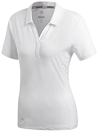 adidas Rangewear Short Sleeve Polo de Golf, Mujer, Blanco, M ...