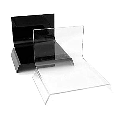 Image of Shooting Tables ALZO Small Riser Platform Kit Shooting Table Black and Clear, Set of 2 for Product Photography