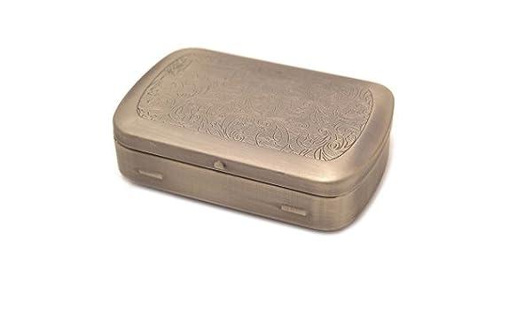 Caja metálica para tabaco de liar Vintage: Amazon.es: Salud y cuidado personal