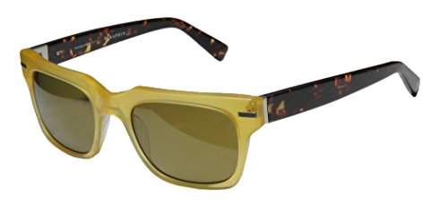 [Seraphin Pierce Sun Mens/Womens Designer Full-rim Sunglasses/Shades (52-20-145, Transparent Yellow /] (Android 17 And 18 Costumes)