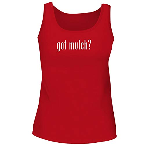 (BH Cool Designs got Mulch? - Cute Women's Graphic Tank Top, Red, Large)