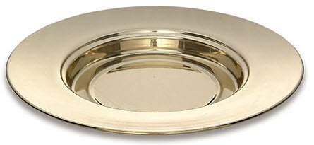 Solid Brass Bread Plate Stackable, Durable Design with Lacquer Finish