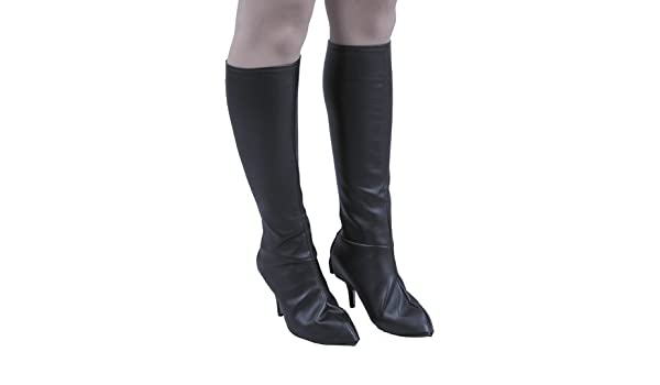 beef7f4ba3bbb Amazon.com | Charades Knee High Black Leather Boot Covers S/M | Over ...