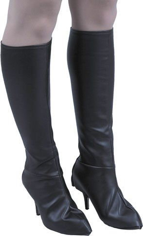 Size: Small//Medium Womens Pink Leatherette Knee High Boot Covers