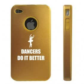 Apple iPhone 4 4S 4 Gold D5139 Aluminum & Silicone Case Cover Dancers Do It Better