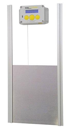 Brinsea Products Chick Safe Extreme Automatic Chicken Coop Door Opener and Door Kit, Grey/Yellow
