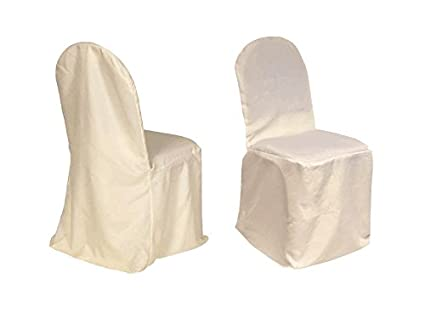 Magnificent Mcombo 100 Pcs Polyester Banquet Chair Covers Wedding Party Decorations 7000 4000 Ivory Camellatalisay Diy Chair Ideas Camellatalisaycom
