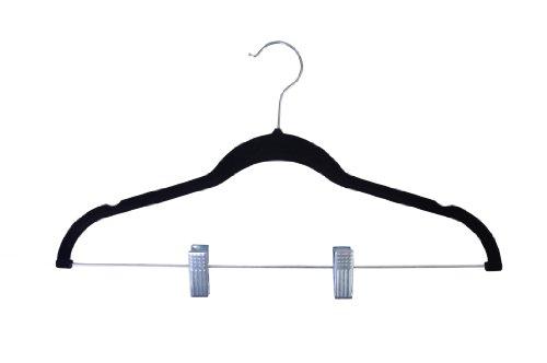 Achim Home Furnishings Velvet Anti-Slip Skirt Hangers, Black 10-Pack by Achim Home Furnishings