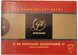 10//Box Gonzalez SSAXG325 Soprano Saxophone Gonazlez Reed
