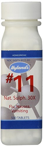 Hyland's Cell Salts #11 Natrum Sulphuricum 30X Tablets, Natural Homeopathic Relief of Flu, Nausea, and Vomiting, 500 Count