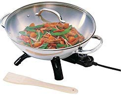 Best Price Presto Stainless Steel Electric Wok by Supernon
