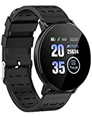 Smart Watch Silicone Band For iOS, Black- 119Plus
