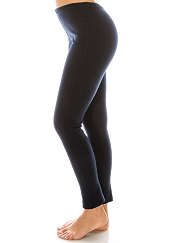 Heavy Weight Polar Fleece Lined winter leggings for women Navy (Polar Fleece Pants)