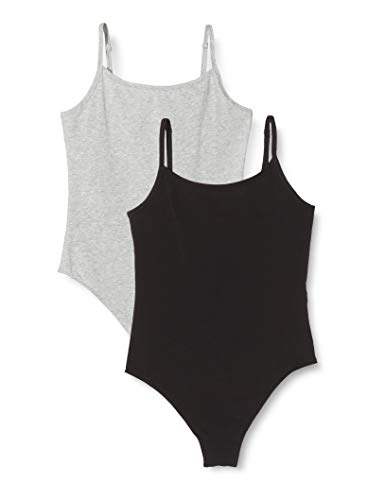 Amazon-Marke: Iris & Lilly Damen Body aus Baumwolle, 2er-Pack