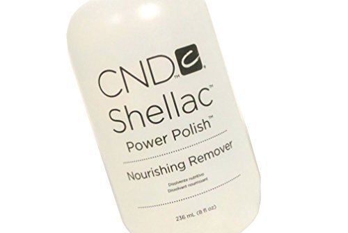 Shellac Power Polish Nourishing NAIL UV-GEL Remover Liquid Leaves nails smooth, shiny and healthy : Net wt 8 fl oz / 236 ml