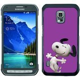 Popular And Fashionable Designed Samsung Galaxy S5 Active Case ,Snoopy Black Samsung Galaxy S5 Active Skin High Quality Phone (Snoopy S5 Case)