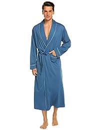 5102a7b377 Ekouaer Men s Robes Soft Kimono Bathrobe Lightweight Sleepwear Loungewear  M- XXXL