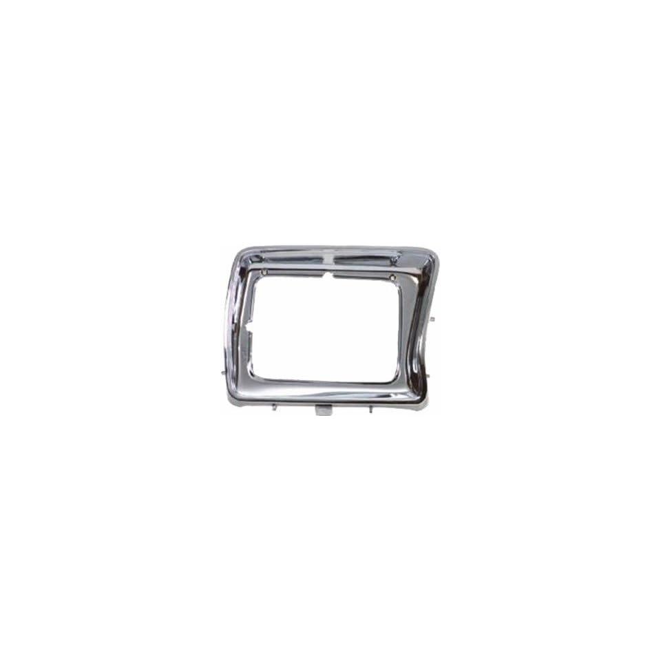 QP F0753 a Ford F Series Chrome Passenger Headlight Door Grille