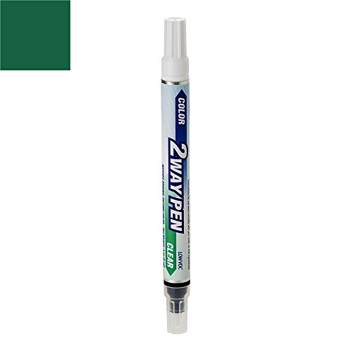 ColorRite Pen Automotive Touch-up Paint for Mazda 6 - Sepang Green Metallic Clearcoat 28S - Color+Clearcoat Package