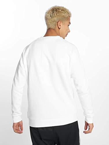 Trefoil up Warm Adidas Bianco Felpa Uomo Crew waxqqd8