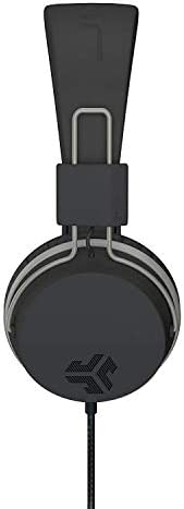 JLab Audio Neon Folding On-Ear Headphones | Wired Headphones | Tangle Free Cord | Noise Isolation | 40mm Neodymium Drivers | C3 Sound (Crystal Clear Clarity) | Black