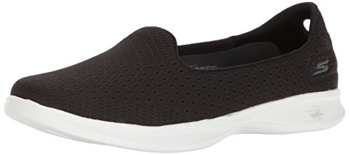 Skechers Performance Women's Go Step Lite-Origin Walking Shoe, Black/White, 9 M US