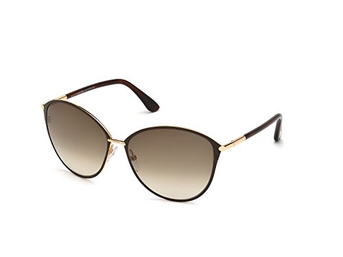 Tom Ford Sunglasses Women TF 320 Brown 28F Penelope 59mm (Best Tom Ford Sunglasses For Round Face)