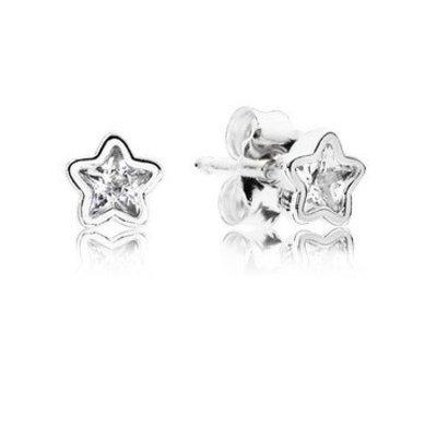 Pandora Women Cuff earrings 290597CZ Silver Star Shine zircons