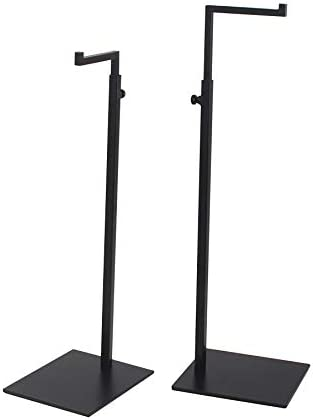 YIFU DISPLAY 2 Pack Black Bag Handbag Display Stand - Retail Countertop Adjustable Height Purse Display Stands Rack - Metal Purse Display Holder for Trade Show