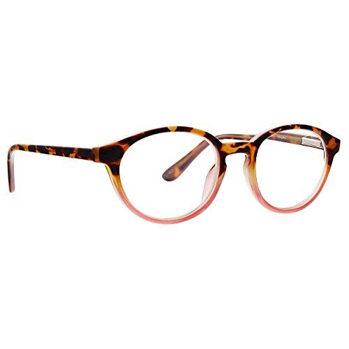 Life is Good Unisex-Adult Imagine LGIMAGINE0MPTR0150 Round Reading Glasses, Milk Pink Tort, 1.5 ()