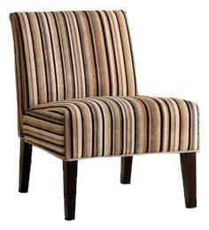 Homelegance Lifestyle Armless Lounge Chair, Striped