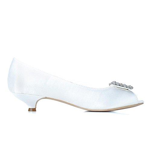 L@YC Zapatos De Novia Para Mujer Seda # 0700-04 Zapatos Finos / Lujosos Con Una Boda De Noche Personalizada MáS Colores Disponibles # Blue