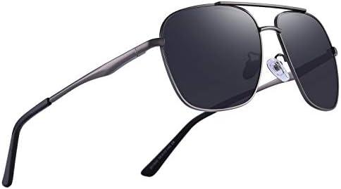 OLIEYE Polarized Mens Sunglasses HD Lens Metal Frame Driving Shades