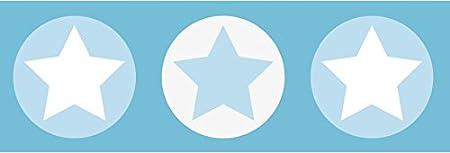 Wandbord/üre Kinderzimmer//Babyzimmer mit Sternen Wanddeko Baby//Kinder Wandtattoo Schlafzimmer M/ädchen /& Junge lovely label Bord/üre selbstklebend Sterne BUNT