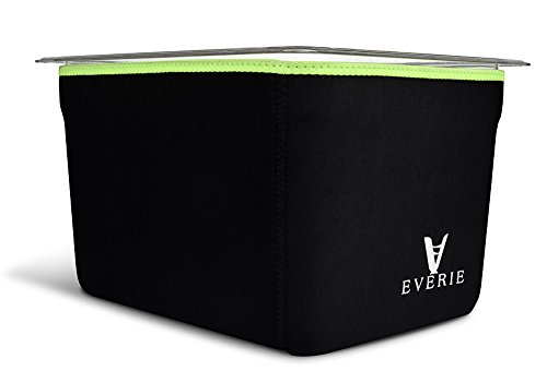(EVERIE Neoprene Sleeve for Everie Sous Vide Container 12 Quart EVC-12, Helps Faster Heat Saves Electricity. Does Not Fit for Rubbermaid.)